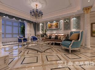 """正商铂钻300平复式法式奢华装修效果图-客厅、沙发背景墙  古典的法式家具多经过描金和贴金处理,显得金光闪闪,光彩夺目。此外浪漫的紫色和粉色在法式家具中也经常使用,这应该和法国人浪漫多情的民族性格有很多的关系吧。怪不得有人称法式家具为""""感性家具""""呢。,300平,35万,小资,复式,客厅,白色,粉色,"""
