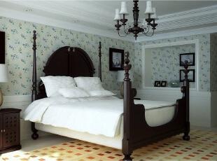 ,125平,15万,欧式,三居,白色,绿色,卧室,