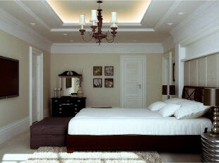 ,125平,15万,欧式,三居,白色,原木色,卧室,