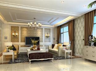 ,240平,35万,欧式,四居,客厅,白色,原木色,黄色,