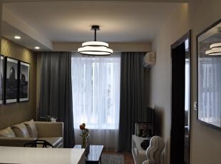 ,35平,16万,现代,公寓,客厅,原木色,白色,黄色,