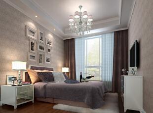 ,65平,15万,混搭,两居,白色,紫色,小资,卧室,