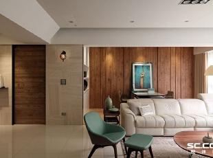 ,140平,18万,现代,三居,客厅,原木色,白色,