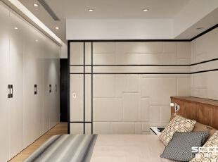 ,140平,18万,现代,三居,卧室,白色,