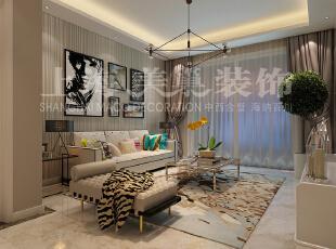 怡丰森林湖89平两室两厅现代简约风格装修效果图--沙发墙,89平,8万,现代,两居,客厅,白色,