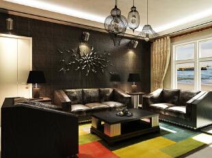 ,157平,15万,现代,三居,客厅,