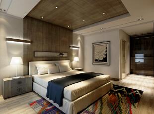 ,157平,15万,现代,三居,卧室,原木色,白色,