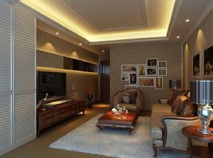,1500平,180万,阁楼,现代,客厅,黄色,