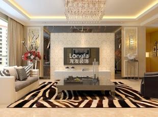 ,135平,5万,现代,三居,客厅,黄色,黑白,