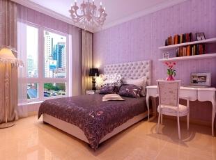,135平,5万,现代,三居,卧室,紫色,
