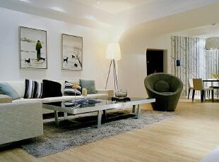 ,135平,15万,现代,三居,客厅,白色,