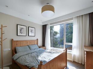 ,126平,10万,欧式,三居,卧室,原木色,白色,