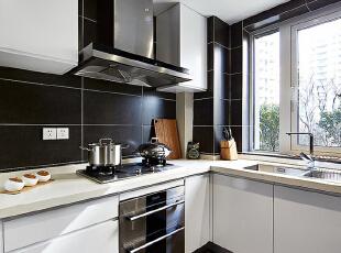 ,126平,10万,欧式,三居,厨房,黑白,