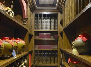 酒窖—迪梵宜设计,357平,200万,美式,别墅,原木色,