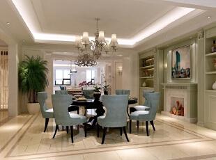 ,500平,60万,现代,别墅,餐厅,绿色,白色,