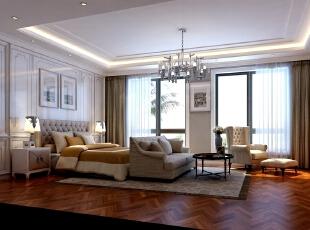 ,500平,60万,现代,别墅,卧室,白色,