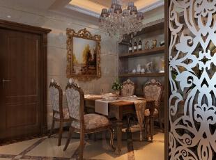 餐厅的空间讲究对称且划分简单合理,给了主人们更充裕的自由活动空间,87平,6万,欧式,两居,餐厅,原木色,
