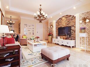 锦艺轻纺城装修4室2厅简欧效果图---沙发、客厅装修效果图,140平,10万,欧式,四居,客厅,原木色,黄色,