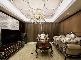 ,89.0平,8.0万,新古典,三居,客厅,黑白,