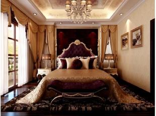 ,416平,5万,新古典,别墅,卧室,黄色,