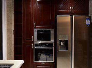 ,140平,10万,欧式,四居,厨房,原木色,白色,