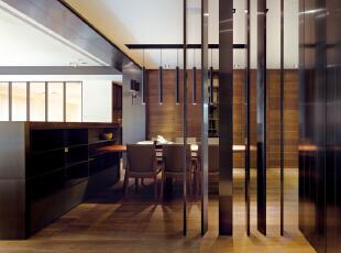 ,现代,大户型,西山艺境,简约,餐厅,原木色,白色,
