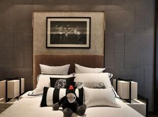 上东城89平方两室两厅新中式装修效果图 卧室,89平,6万,中式,两居,卧室,黑白,