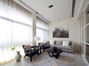 ,200平,45万,现代,四居,客厅,白色,
