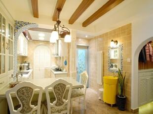 ,120平,5万,欧式,三居,厨房,白色,黄色,