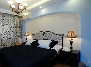 ,120平,5万,欧式,三居,卧室,白色,蓝色,