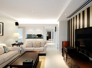 ,150平,18万,现代,三居,客厅,黑白,