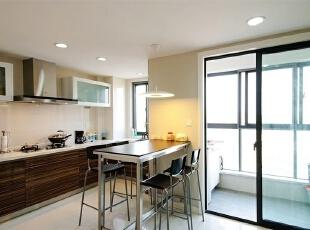 ,150平,18万,现代,三居,厨房,原木色,白色,