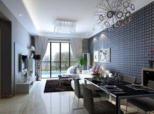 整套设计方案围绕现代简约为主题,色彩对比强烈,简洁,明快,使空间感增强。 简洁和实用是现代简约风格的基本特点。此方案在经济、实用、舒适的同时,体现一定的品味。不仅注重居室的实用性,而且还体现出了现代社会生活的精致与个性,符合现代人的生活品位。墙面的装饰,更体现现代简约的之感。 创造一个温馨,健康的家庭环境。不需要多复杂,不需要多奢华,高纯度色彩加线条简洁的家具,营造一个现在舒适的家。现在简约的风格,让我们劳累了一天回到家里感受到的不再是工作时的那种紧张感,而是在一个简单环境下,让我们放松自己的心灵,让我们精致细节将生活演绎的生动美好。,86平,6.1万,现代,两居,客厅,蓝色,白色,