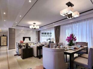 上东城144平方四室两厅现代简约装修效果图 客厅,144平,10万,现代,四居,客厅,