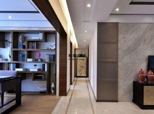 上东城144平方四室两厅现代简约装修效果图 走廊,144平,10万,现代,四居,客厅,