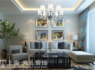 蓝堡湾189平五室两厅现代简约装修效果图--客厅沙发背景墙,189平,30万,现代,大户型,