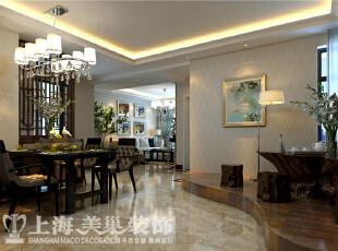 蓝堡湾189平五室两厅现代简约装修效果图--客餐厅,189平,30万,现代,大户型,