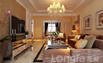【万达装修】万达广场133.65平温馨典雅欧式风格的装修效果