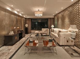,380平,28万,现代,大户型,客厅,黑白,