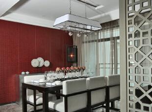 ,380平,28万,现代,大户型,餐厅,黑白,红色,