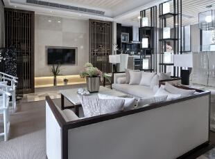 ,300平,48万,中式,别墅,客厅,黑白,