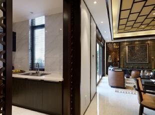 ,340平,49万,中式,别墅,厨房,原木色,