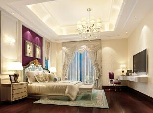 ,300平,35万,中式,别墅,卧室,白色,