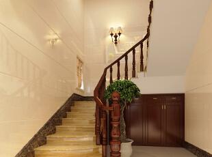 ,300平,35万,中式,别墅,楼梯,黄色,