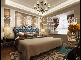润城87平2室2厅现代简约风格装修效果图--卧室,墙壁上的条纹突显,仿佛一切都回到了最初的状态,配上暗花壁纸,空间明暗分明,层次感强。,87平,8万,现代,两居,卧室,黄色,