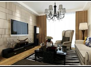 ,113平,76800万,现代,三居,客厅,黑白,