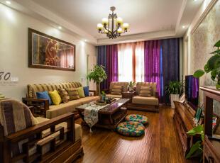 ,130平,4万,混搭,三居,客厅,原木色,白色,