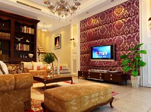 ,280平,66万,欧式,复式,客厅,白色,原木色,