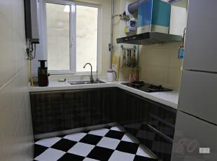 ,130平,4万,现代,三居,厨房,黑白,