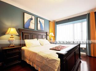 ,130平,15万,清新,两居,卧室,美式,蓝色,原木色,
